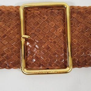 Cole Haan Weaved Leather Dress/Sweater Belt 17-20